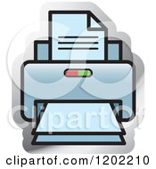 Clipart Of A Desktop Computer Printer Icon Royalty Free Vector Illustration by Lal Perera
