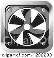 Clipart Of A Computer Cooling Fan Icon Royalty Free Vector Illustration