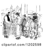 Clipart Of Vintage Black And White Gutter Snipes Royalty Free Vector Illustration by Prawny Vintage