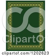 Clipart Of An Orante Page Border Framing Green Text Space Royalty Free Vector Illustration