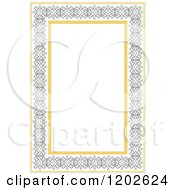 Clipart Of An Orante Page Border Framing White Text Space Royalty Free Vector Illustration