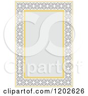 Clipart Of An Orante Page Border Framing Text Space Royalty Free Vector Illustration