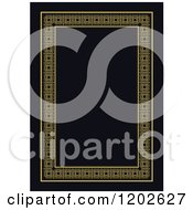 Clipart Of An Orante Page Border Framing Black Text Space Royalty Free Vector Illustration