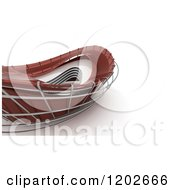 Clipart Of A 3d Abstract Red Architectural Structure On White Royalty Free CGI Illustration