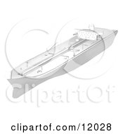 Tanker Ship Clipart Illustration by AtStockIllustration