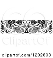 Clipart Of A Vintage Black And White Ornate Floral Border Design 5 Royalty Free Vector Illustration