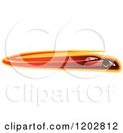 Clipart Of A Fast Red Race Car With Speed Lines Royalty Free Vector Illustration
