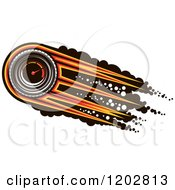 Clipart Of A Race Car Speedometer With Speed Lines Over Black Dots Royalty Free Vector Illustration