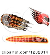 Clipart Of Car Racing Designs Helmet Car And Speedometer Royalty Free Vector Illustration