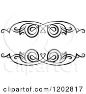 Clipart Of A Vintage Black And White Ornate Frame 3 Royalty Free Vector Illustration