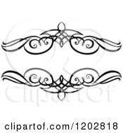 Clipart Of A Vintage Black And White Ornate Frame 4 Royalty Free Vector Illustration