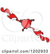 Cartoon Of A Bloody Heart Royalty Free Vector Illustration