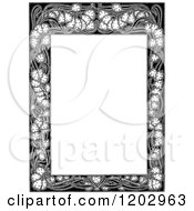 Clipart Of A Vintage Black And White Floral Page Border 2 Royalty Free Vector Illustration by Prawny Vintage
