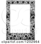 Clipart Of A Vintage Black And White Floral Page Border 3 Royalty Free Vector Illustration by Prawny Vintage