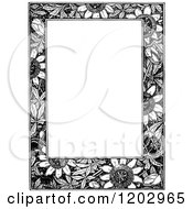 Clipart Of A Vintage Black And White Floral Page Border 4 Royalty Free Vector Illustration by Prawny Vintage
