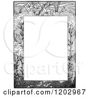 Clipart Of A Vintage Black And White Floral Page Border 6 Royalty Free Vector Illustration by Prawny Vintage
