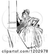 Clipart Of A Vintage Black And White Lost Princess Of Oz Woman Royalty Free Vector Illustration by Prawny Vintage