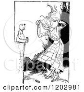 Clipart Of A Vintage Black And White Lost Princess Of Oz Scarecrow Royalty Free Vector Illustration by Prawny Vintage