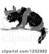 Clipart Of A Vintage Black And White Lost Princess Of Oz Dog Royalty Free Vector Illustration