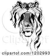 Clipart Of A Vintage Black And White Oz Tiger Royalty Free Vector Illustration by Prawny Vintage