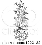 Clipart Of A Vintage Black And White Border Ornament Royalty Free Vector Illustration