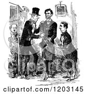 Clipart Of A Vintage Black And White Scene Of Abraham Lincoln In Character Royalty Free Vector Illustration by Prawny Vintage