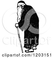 Clipart Of A Vintage Black And White Old Man Royalty Free Vector Illustration by Prawny Vintage