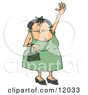 Hairy Woman With Lots Of Body Hair Waving Cartoon Clipart by Dennis Cox