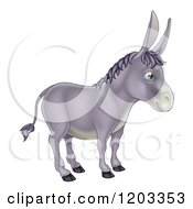 Cartoon Of A Cute Donkey In Profile Royalty Free Vector Clipart by AtStockIllustration