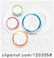Clipart Of Colorful Infographic Circles Over Mesh Royalty Free Vector Illustration