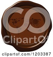 Brown Wax Or Chocolate World Map Seal Icon