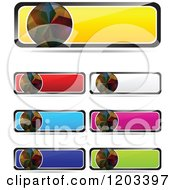Clipart Of Colorful Reflective Website Banners With Shadows Royalty Free Vector Illustration