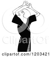 Cartoon Of A Vintage Black And White Caricature Of Nance Oneil Royalty Free Vector Clipart