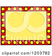 Cartoon Of A Red And Yellow Marquee Sign With Text Space Royalty Free Vector Clipart