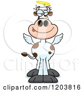 Cartoon Of A Drunk Holy Cow Royalty Free Vector Clipart