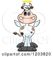 Cartoon Of A Mad Holy Cow Royalty Free Vector Clipart