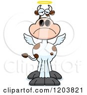 Cartoon Of A Depressed Holy Cow Royalty Free Vector Clipart