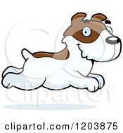 Cartoon Of A Cute Jack Russell Terrier Puppy Running Royalty Free Vector Clipart