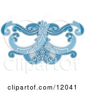 Blue Eye Mask Pattern Clipart Picture by AtStockIllustration