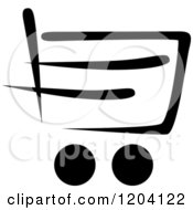 Black And White Shopping Cart Icon 8