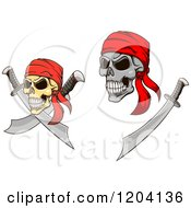 Poster, Art Print Of Pirate Skulls With Swords