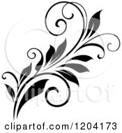 Clipart Of A Black And White Flourish Design 5 Royalty Free Vector Illustration