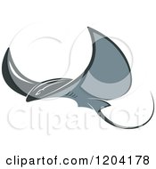 Clipart Of A Swimming Stingray Fish 5 Royalty Free Vector Illustration by Vector Tradition SM