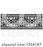 Clipart Of A Black And White Ornate Arabian Border 3 Royalty Free Vector Illustration