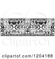 Clipart Of A Black And White Ornate Arabian Border 4 Royalty Free Vector Illustration