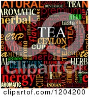 Clipart Of A Seamless Colorful Tea Word Collage On Black Royalty Free Vector Illustration by Vector Tradition SM