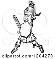 Clipart Of A Vintage Black And White Heraldry Royalty Free Vector Illustration