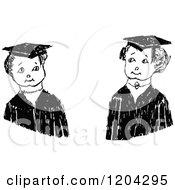 Vintage Black And White Graduate Kids
