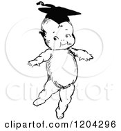 Vintage Black And White Smart Graduate Baby