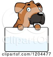 Cartoon Of A Cute Boxer Puppy Dog Royalty Free Vector Clipart